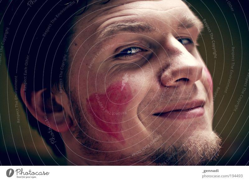HerzBube Mensch Mann Jugendliche Gesicht Erwachsene Auge Herz glänzend Mund wild maskulin Nase verrückt Coolness 18-30 Jahre Ohr