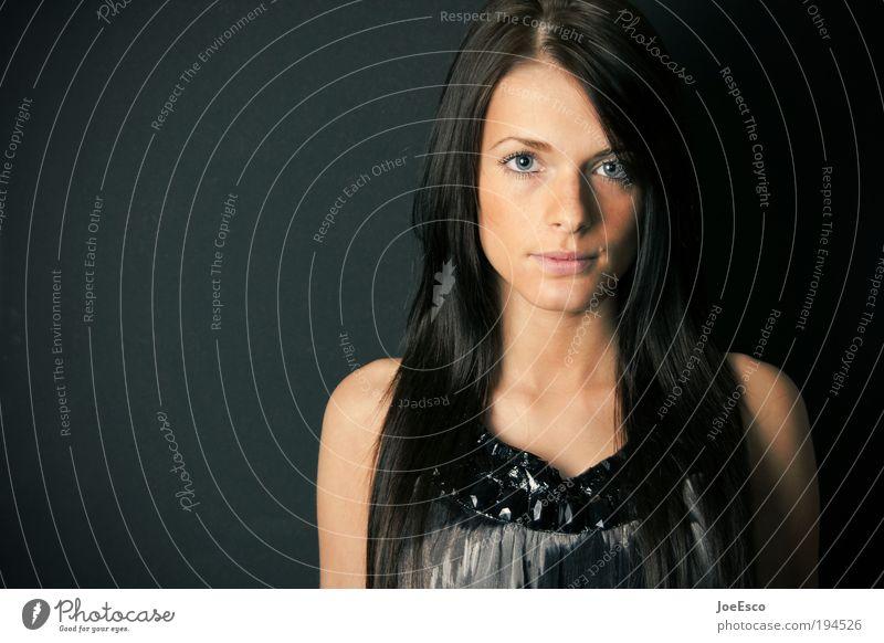 0800-photo-op Lifestyle schön Leben Wohlgefühl feminin Frau Erwachsene Kopf Gesicht Auge Mode Haare & Frisuren brünett langhaarig glänzend Blick authentisch
