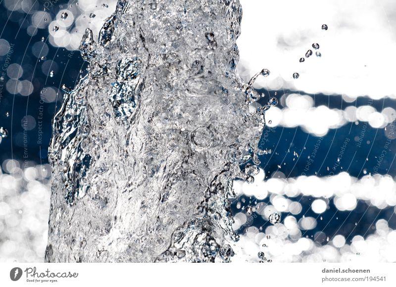 abstraktes Wasser Umwelt Natur Wassertropfen ästhetisch Flüssigkeit blau grau bizarr Licht Reflexion & Spiegelung