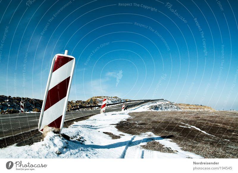 Straßenbau Natur Winter Arbeit & Erwerbstätigkeit Wege & Pfade Landschaft Eis planen Straßenverkehr Umwelt Schilder & Markierungen Verkehr Frost