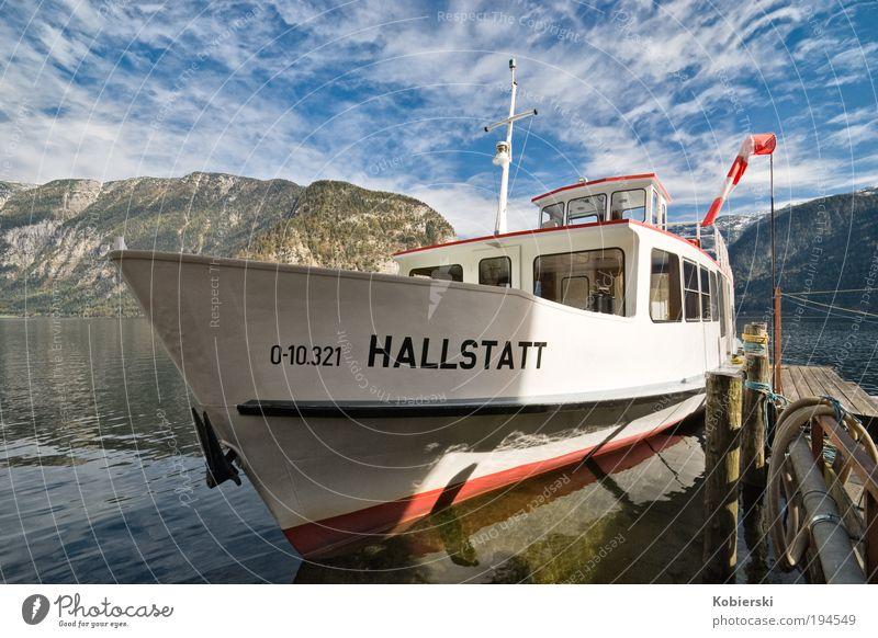Saisonende blau Wasser Ferien & Urlaub & Reisen Wolken ruhig Erholung Landschaft Herbst Glück See Zufriedenheit nass Ausflug Tourismus historisch Gelassenheit
