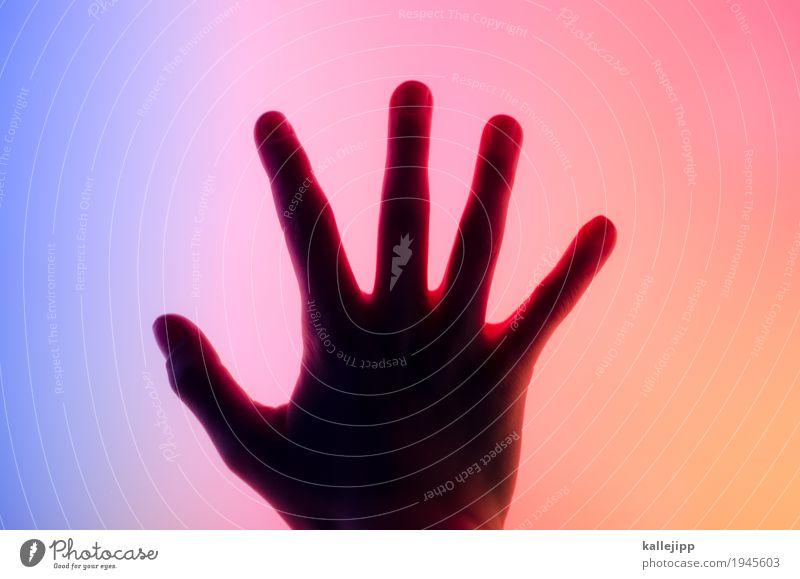 touchscreen Kind blau Hand Wärme kalt orange Energiewirtschaft Technik & Technologie Telekommunikation Computer Zukunft Finger berühren Internet Handy Informationstechnologie