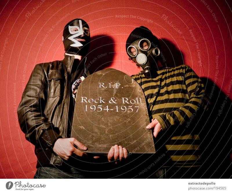 Mensch Tier Erwachsene Musik Stein außergewöhnlich dreckig maskulin retro Maske Rockmusik gruselig Rock `n` Roll Reichtum Sucht Punk
