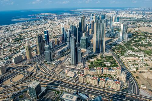 Abu Dhabi Haus Straße Wege & Pfade Gebäude Business Verkehr PKW Wachstum Hochhaus Flugzeug Brücke Asien Bankgebäude Verkehrswege Autobahn Fahrzeug