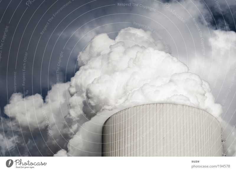 Kühlschrank Wolken Denken dreckig Wetter Umwelt Industrie Energiewirtschaft Zukunft Industriefotografie Fabrik Wandel & Veränderung Klima Rauch Abgas Wirtschaft