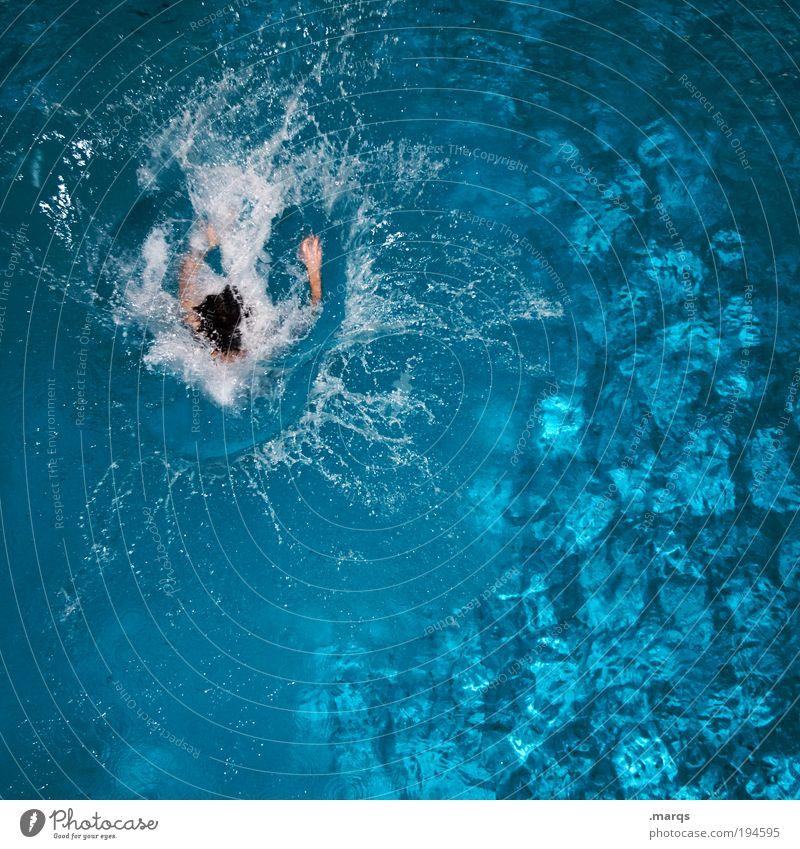 Splash Mensch Wasser Ferien & Urlaub & Reisen Sommer Freude Leben Sport springen Gesundheit Freizeit & Hobby Schwimmen & Baden nass Ausflug frisch Fröhlichkeit