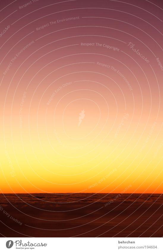 farbverlaufstraum Himmel Natur schön Ferien & Urlaub & Reisen Wolken Einsamkeit Ferne Freiheit Umwelt träumen orange Zufriedenheit Insel Sonnenaufgang Hoffnung