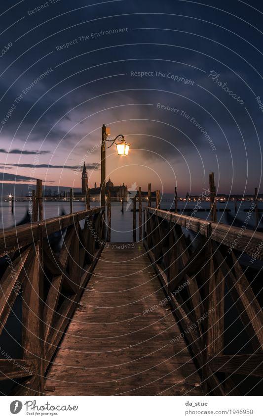 Venedig Bootssteg San Giorgio Angeln Ferien & Urlaub & Reisen Tourismus Ausflug Städtereise Sommer Sommerurlaub Meer Winter Winterurlaub Architektur Wasser