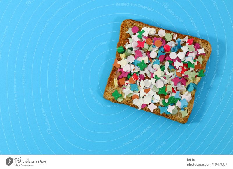 happy Breakfast Essen Lebensmittel Party verrückt Frühstück Veranstaltung Brot Konfetti Toastbrot