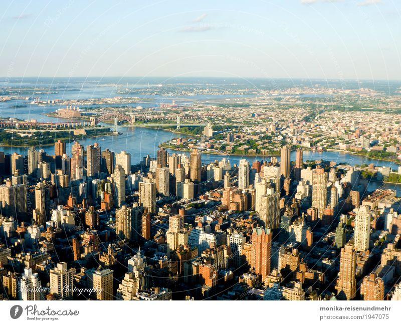 New York aus der Vogelperspektive Ferien & Urlaub & Reisen Städtereise Kultur Landschaft Schönes Wetter New York City USA Amerika Stadt Skyline Haus