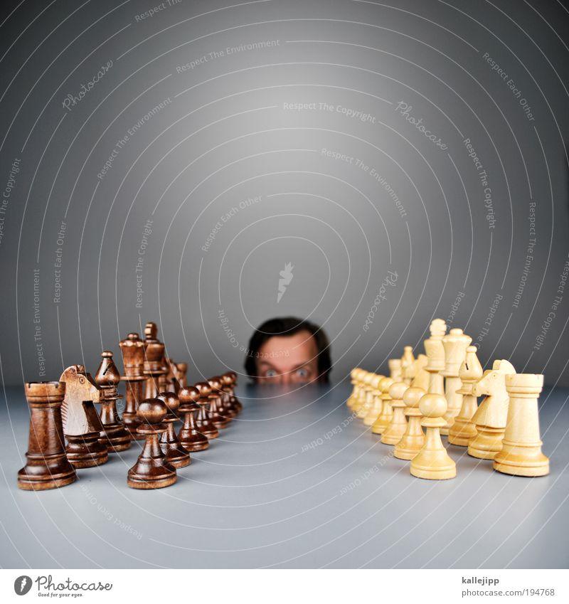 gipfeltreffen Lifestyle Freizeit & Hobby Spielen Schach Mensch maskulin Kopf Haare & Frisuren Gesicht Auge 1 30-45 Jahre Erwachsene kämpfen Krieg Krise planen