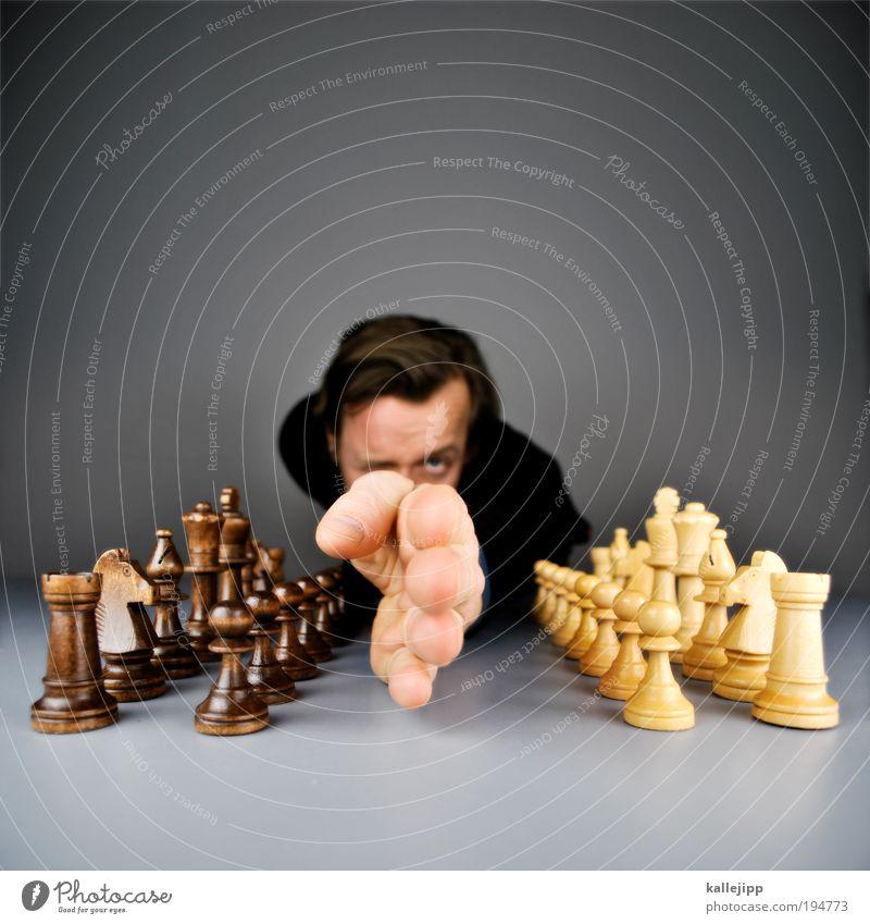 grenzziehung Lifestyle Spielen Schach Sportveranstaltung Mensch Mann Erwachsene Kopf Haare & Frisuren Gesicht Auge Arme Hand Finger 1 kämpfen Partnerschaft