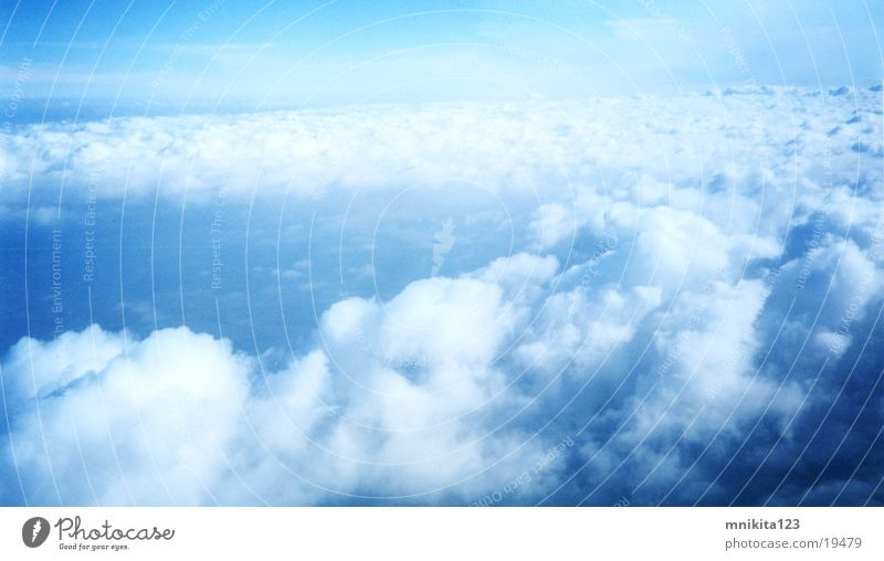 Clouds from the Air Himmel Sky Blue Rain Plain Fly Flying