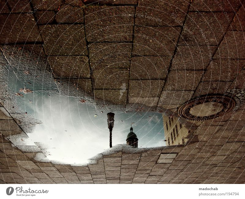 FHMNGRD Stadt Straße Berlin Fenster träumen Stein Wege & Pfade Umwelt Horizont Zukunft Boden Sehnsucht Quadrat Reflexion & Spiegelung Loch skurril