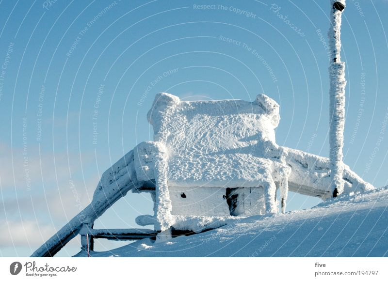 starthäuschen Natur weiß Winter Ferien & Urlaub & Reisen Haus Ferne kalt Schnee Berge u. Gebirge Freiheit Eis Umwelt Ausflug gefroren frieren Schönes Wetter