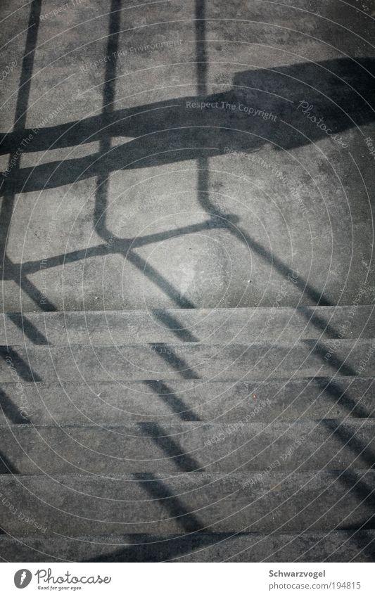 shadow soldier Mensch Erholung Freiheit Gefühle grau träumen Stimmung warten Treppe stehen Boden trist einzigartig beobachten Vergänglichkeit unten