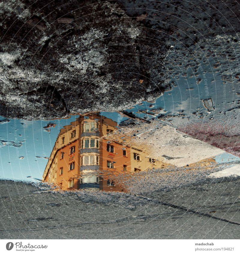 KLMWNDL Wasser Schnee Haus Fassade gefährlich Zufriedenheit bizarr Klima Schutz skurril Surrealismus Umwelt Umweltverschmutzung Umweltschutz Vergänglichkeit