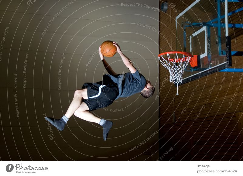 Kamikaze Lifestyle elegant Stil Freude Leben Freizeit & Hobby Sport Fitness Sport-Training Sportler Basketball Sportstätten Mensch maskulin Junger Mann