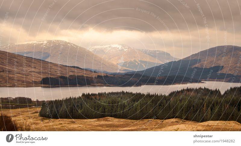 Scotland Natur Ferien & Urlaub & Reisen Wasser Landschaft Wolken Ferne Wald Berge u. Gebirge Umwelt Wiese Freiheit Tourismus Ausflug Wetter wandern Sträucher