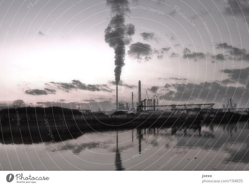 Wasseraufbereitung Maschine Kohlekraftwerk Industrie Umwelt Luft Himmel Klima Industrieanlage Gebäude Schornstein alt hässlich Umweltverschmutzung