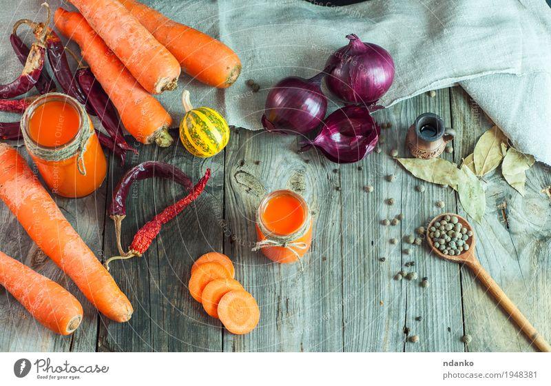 Natur alt rot Essen natürlich Holz Gesundheitswesen grau oben orange frisch Glas Glas Tisch Kräuter & Gewürze Getränk