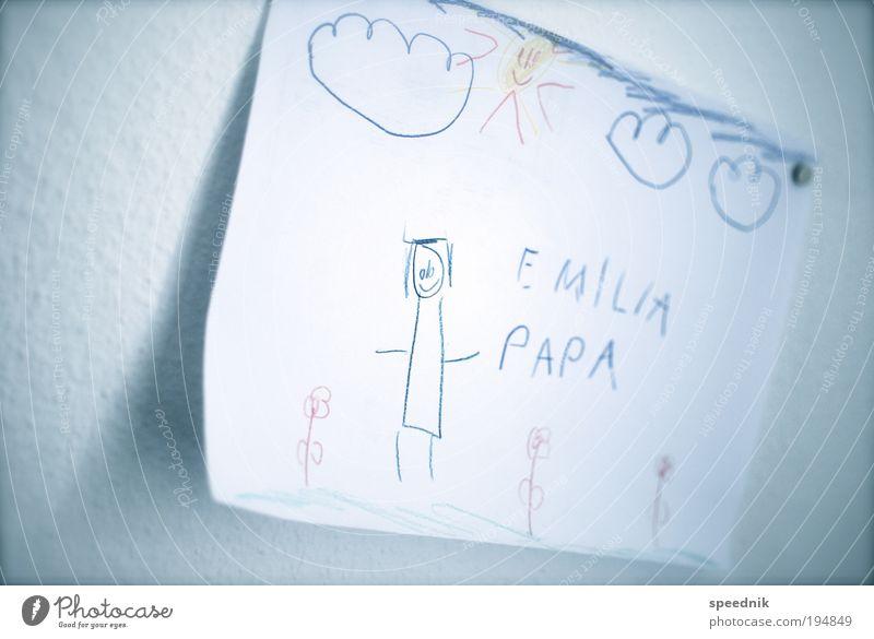 Kleinkunst zeichnen Kindererziehung Bildung Kindergarten Kindheit 1 Mensch Kunst Maler Ausstellung Kunstwerk Printmedien Landschaft Pflanze Wolken Sonne Sommer