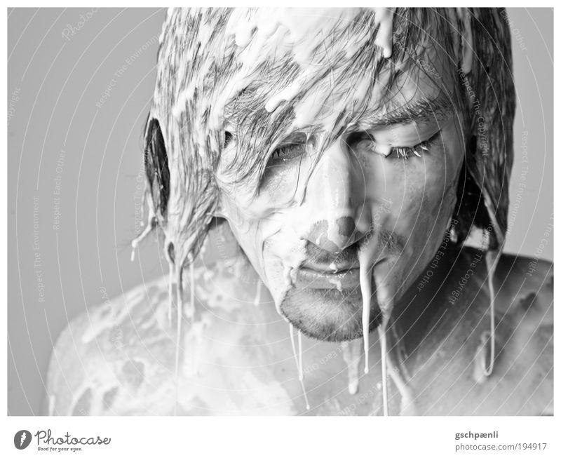 Material V Mensch maskulin Haut Kopf Haare & Frisuren Gesicht Nase 1 18-30 Jahre Jugendliche Erwachsene Kunst Kultur außergewöhnlich Ekel hell einzigartig weiß