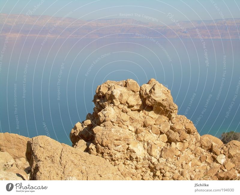 The Rock Natur Landschaft Wasser Berge u. Gebirge Gipfel Meer Totes Meer Wüste Negev natürlich entdecken mehrfarbig Außenaufnahme Menschenleer Tag