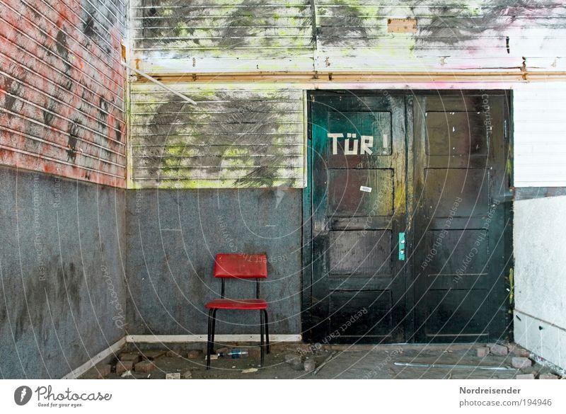 Wir lernen Dinge kennen.... Freude Haus Wand Graffiti Stil Mauer Freizeit & Hobby Tür Raum Schilder & Markierungen Design Innenarchitektur Schriftzeichen