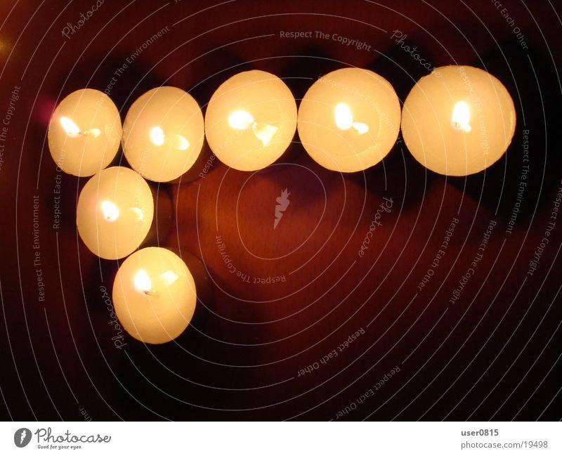 Eins Kerze Teelicht 1 Ziffern & Zahlen Häusliches Leben