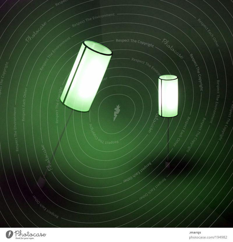 Grünes Licht grün Stil Lampe Beleuchtung Innenarchitektur Design außergewöhnlich Dekoration & Verzierung leuchten Lifestyle retro einzigartig verfaulen skurril Doppelbelichtung abstrakt