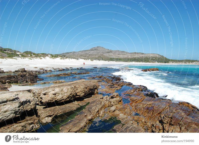 You will find your way Mensch Mann Natur Wasser Sonne Meer Sommer Strand Erwachsene Leben Küste Sand Stein Erde Wellen Wind