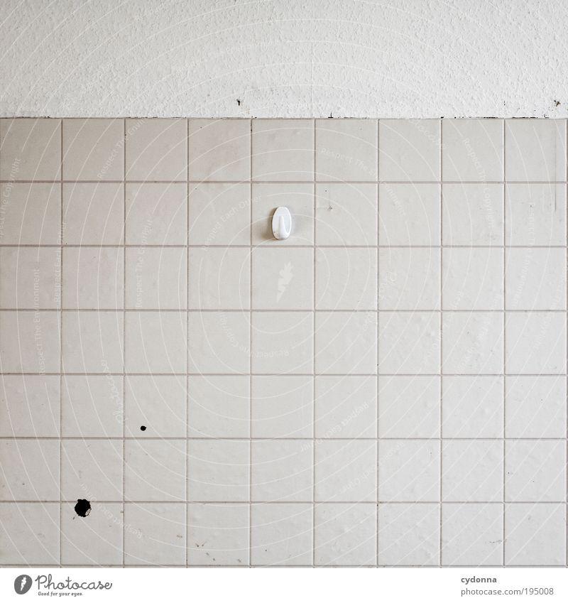 Der Aufhänger Einsamkeit Leben Wand Stil Mauer Raum Design Lifestyle Küche Ende Dekoration & Verzierung Bildung Häusliches Leben Vergänglichkeit
