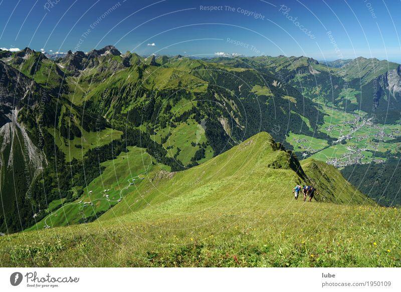 Blick von der Üntschenspitze Ferien & Urlaub & Reisen Tourismus Ausflug Abenteuer Ferne Freiheit Sommer Sommerurlaub Berge u. Gebirge wandern Klettern