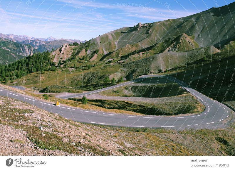 der weg ist das ziel III Ferien & Urlaub & Reisen Ausflug Ferne Klima Schönes Wetter Alpen Berge u. Gebirge Gipfel Verkehrswege Straße Wege & Pfade Landstraße