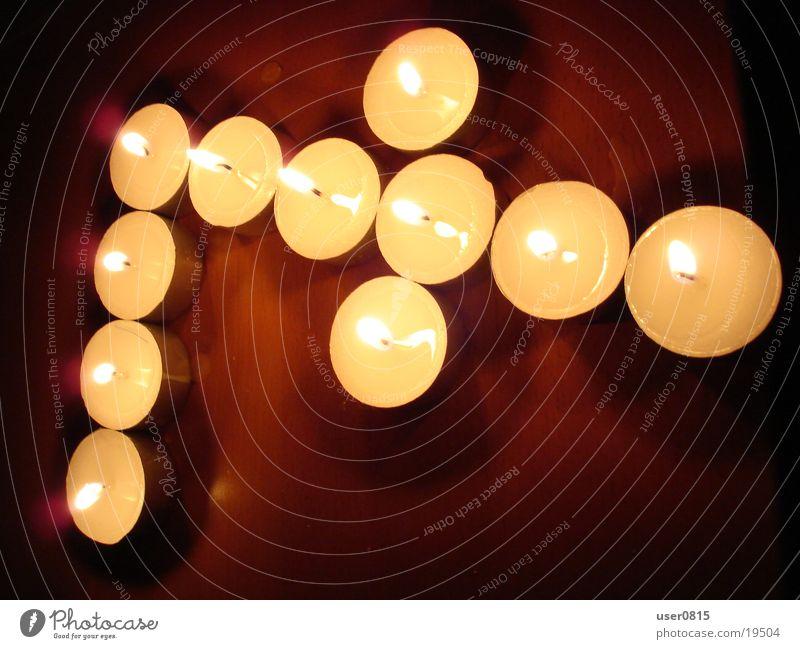 Sieben Kerze Ziffern & Zahlen Häusliches Leben 7 Teelicht