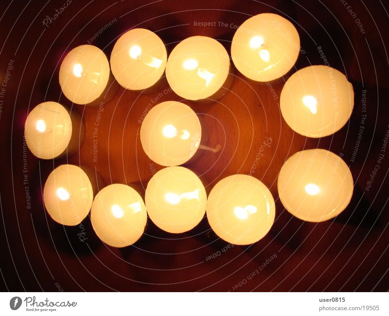 Acht Kerze Teelicht 8 Ziffern & Zahlen Häusliches Leben