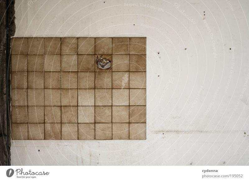 Detailelement zur Verbesserung der allgemeinen Befindlichkeit ruhig Einsamkeit Leben Wand Stil träumen Mauer Stimmung gehen Design Zeit Lifestyle ästhetisch