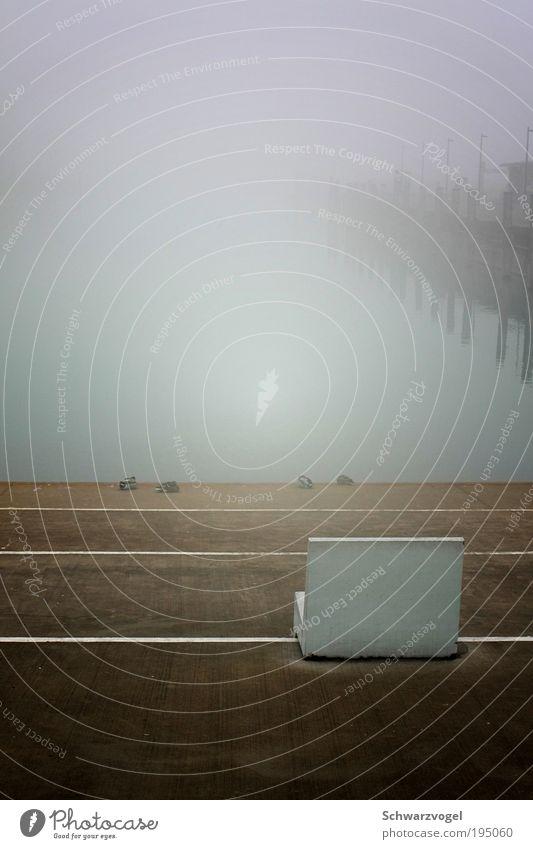 Aussicht: trübe Natur ruhig Einsamkeit kalt See Denken Landschaft Stimmung Nebel Wetter Umwelt nass frei trist Klima beobachten