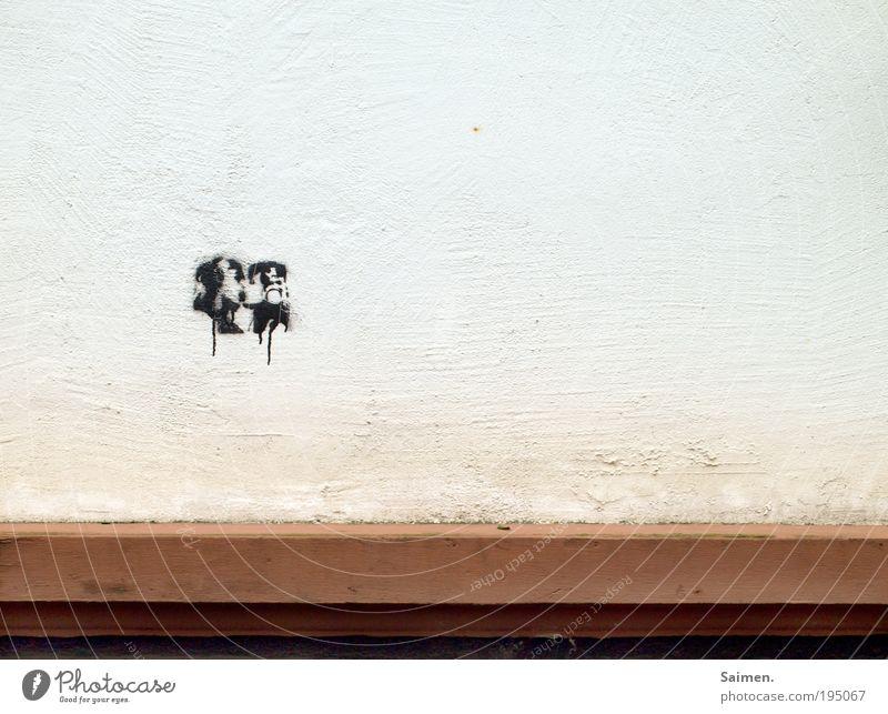 love is in the air Haus Leben Wand Graffiti Glück Mauer Kunst Zufriedenheit Zusammensein Fassade Design Romantik Küssen Kopfhörer Verliebtheit sprühen