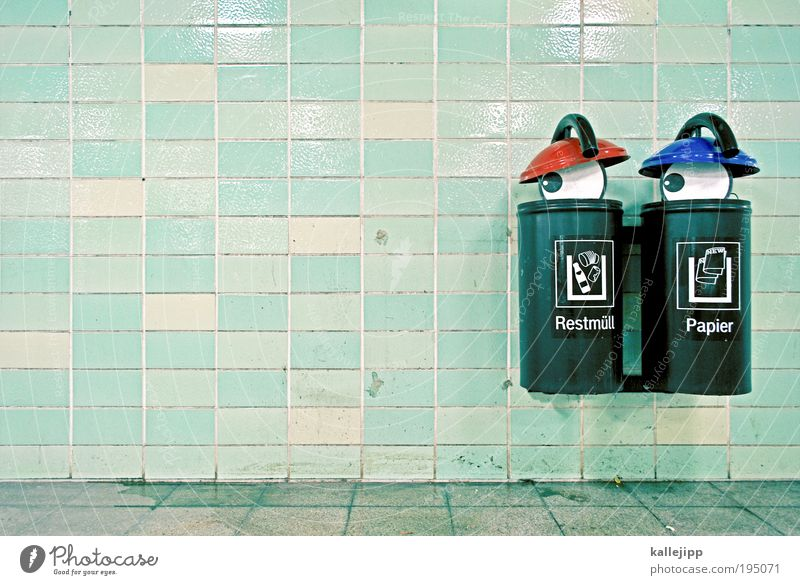 fernsehprogramm Auge 1 Mensch Kultur Kunst skurril Comic Comicfigur Restmüll Müll Müllbehälter Müllabfuhr Papier Recycling Blick Versteck Augenbraue augenlied