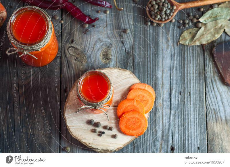 rot Essen Gesundheit grau oben orange hell frisch Tisch Kräuter & Gewürze Küche trinken Gemüse Frühstück heimwärts Tasse