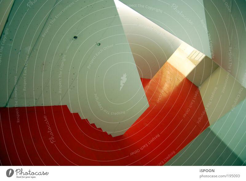 Red-Carpet-Likes-Strange-coloured-Wall blau weiß rot kalt Wand Architektur Mauer träumen Kunst Tür Beton Treppe Design Verkehr außergewöhnlich Boden