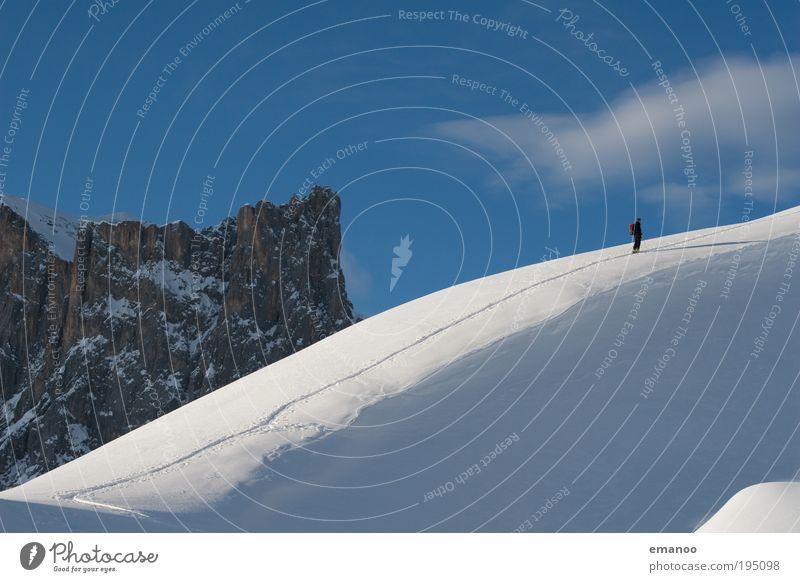 alternativer schneesport Lifestyle Freude Freizeit & Hobby Ferien & Urlaub & Reisen Ausflug Winter Schnee Winterurlaub Berge u. Gebirge wandern Wintersport