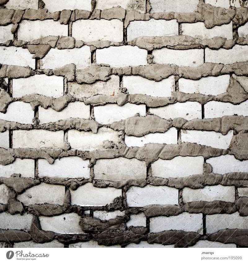 Überfluss Häusliches Leben Haus Hausbau Renovieren Handwerk Mauer Wand bauen einzigartig grau Ordnung planen Zement Baustelle Strukturen & Formen Backstein