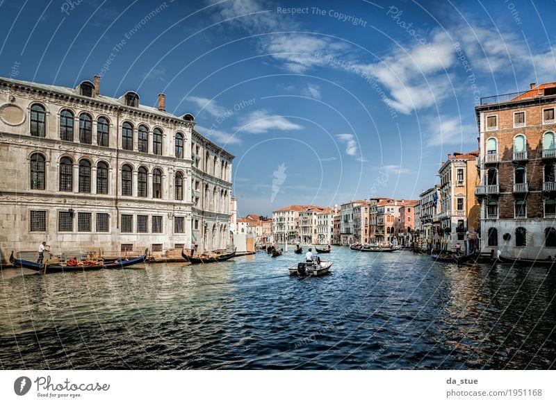 Kanal Grande - Canale Grande in Venedig #2 Kultur Wasser Frühling Sommer Herbst Winter Schönes Wetter Fluss Italien Europa Stadt Stadtzentrum Altstadt Haus