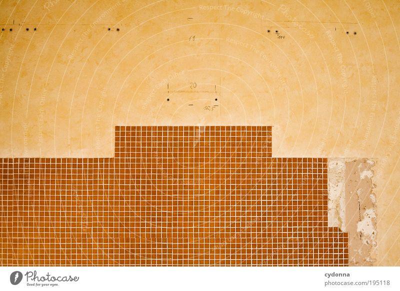 Der Perfektionist Leben Wand träumen Mauer planen Design Lifestyle ästhetisch Küche Wandel & Veränderung Häusliches Leben Vergänglichkeit Innenarchitektur Fliesen u. Kacheln Dienstleistungsgewerbe Umzug (Wohnungswechsel)