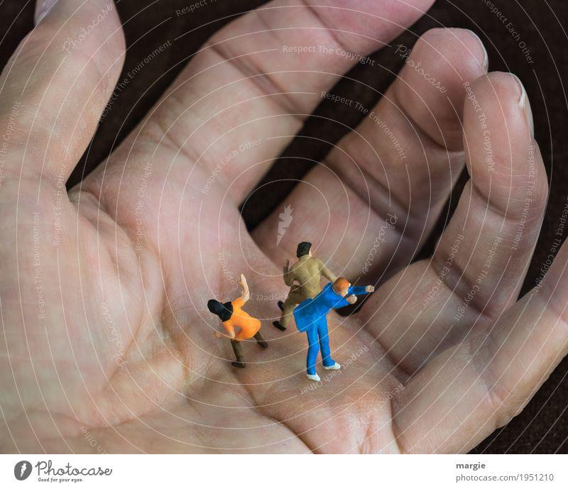 Miniwelten - voll im Griff! Team Mensch maskulin feminin Frau Erwachsene Mann Finger 3 blau rosa Tapferkeit Angst Entsetzen Todesangst Stress Rache greifen