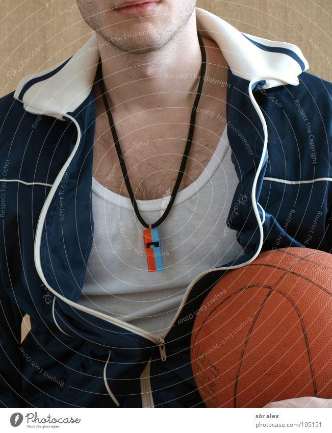 FIT für den Frühling Freizeit & Hobby Sport Fitness Sport-Training Sportler Ball Basketball Basketballer Mensch maskulin 1 Joggingjacke Unterhemd Trillerpfeife