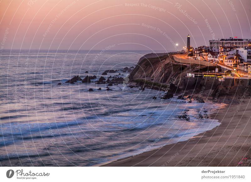 Abendstimmung am Atlantik Natur Ferien & Urlaub & Reisen Sommer Landschaft Meer Haus Freude Ferne Strand Umwelt Küste Freiheit Tourismus Felsen Ausflug Wellen